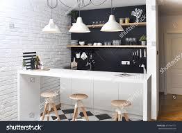 modern kitchen apartment modern kitchen luxurious apartment stock photo 310764101