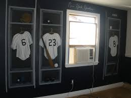 new york ny yankees locker room wall mural nursery jersies jersey new york yankees mural locker room jersies 6 23 8
