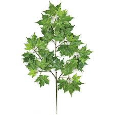 22 inch artificial green canadian maple branch set of 12