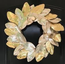 Magnolia Leaf Wreath Metallic Magnolia Wreath