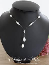bijoux mariage collier de mariage en perles et de forme y collier de mariée élégant