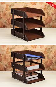 Leather Desk Organizer by 3 Tier Document Holder File Tray Of Pu Leather Cover For Office