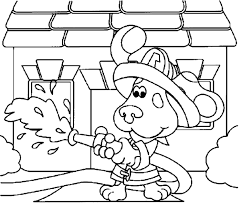 blues clues firefighter blue u0027s clues coloring pages