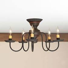 Wall Mount Chandelier Details About Thorndale 5 Arm Ceiling Light Primitive Flush