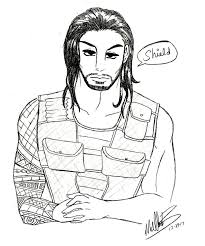 wwe coloring pages roman reigns kids coloring