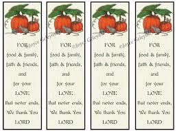 printable thanksgiving bookmarks pumpkins with mice prayer