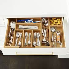 how to organise kitchen utensils drawer bamboo stackable drawer organizer
