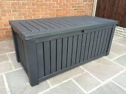 keter rockwood anthracite plastic garden storage deck box 570 ltr