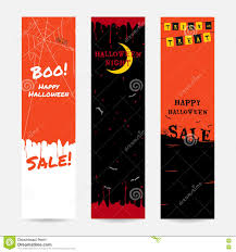 set of happy halloween banner background in vertical stock vector