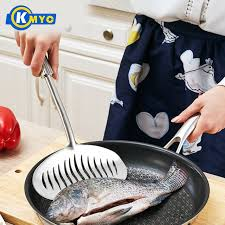 ustensil cuisine kmyc stainless steel cooking turner widened frying slotted spatula