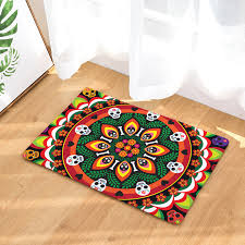 chambre am icaine ado flannel floor mats wreath printed bedroom living room carpets
