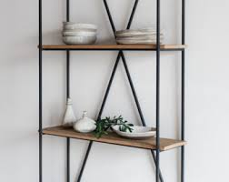 Reclaimed Wood And Metal Bookcase Barnwood Bookcase Etsy