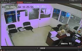 cctv cameras show image with pink or purple colors technical