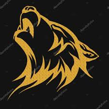 gold tribal wolf designs stock photo klowreed 110031402