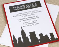 wedding invitations new york wedding invitations nyc ny with new york city skyline wedding