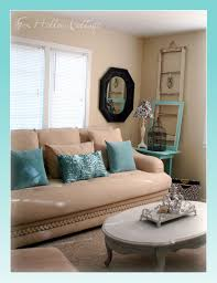 Home Decorating Colors by Aqua Black White Tan Living Room Shabby Thrifted Mix We Can
