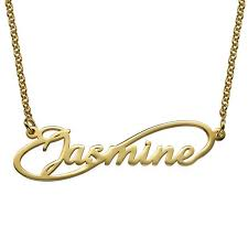 Infinity Name Necklace Script Infinity Name Necklace Be Monogrammed