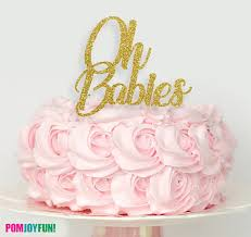 twins cake topper oh babies cake topper twins baby shower cake