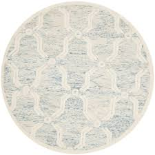 6 X 6 Round Area Rugs by Nuloom Tammara Ivory 6 Ft X 6 Ft Chindi Round Area Rug Mgnm04c