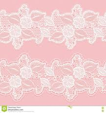 Invitations And Cards Seamless White Lace Border On A Pink Background Horizontal