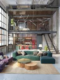 home interior design u2014 industrial loft features exposed brick and