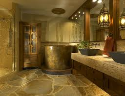 natural stone bathroom design ideas single black vanity sink