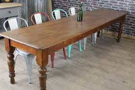 LARGE VICTORIAN PINE TABLE - Victorian pine kitchen table