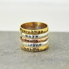 stacking name rings personalized stackable name ring personalized stacking ring
