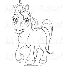 cute unicorn clipart black and white clipartxtras