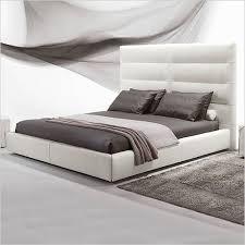 Leather Upholstered Bed Sayonara Bed Leather Upholstered Headboard Platform Frame