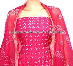bandhani bandhej tie u0026 dye dress material buy bandhani bandhej