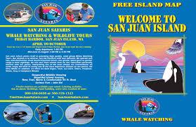 Seattle Ferry Map by Print A Map San Juan Safaris San Juan Island Whale Watching Tours