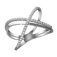 diamond x ring crossed diamond x ring karp jewellery
