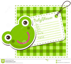 babyparty frosch einladungs karte vektor abbildung bild 36990262