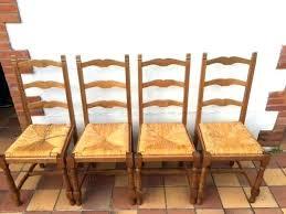 chaise en bois et paille chaise rustique bois et paille chaise bois assise paille chaise