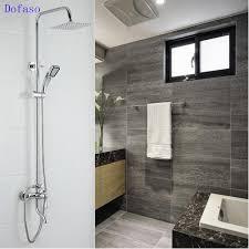 aliexpress com buy dofaso copper bathroom rain shower sets bath aliexpress com buy dofaso copper bathroom rain shower sets bath tap shower faucet chrome bath set faucets rain and waterfall showers water saving from