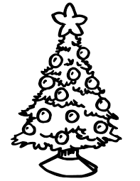 christmas tree coloring pagefree coloring pages for kids free