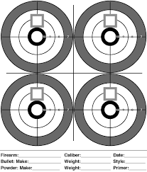 Printable Shooting Targets Pdf   free paper shooting targets