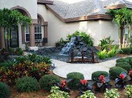 increase your home value diy front yard water feature land rock