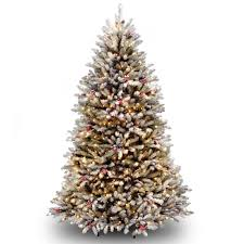 get the 6 5 ft pre lit flocked dunhill fir full artificial
