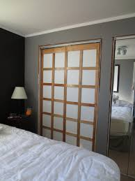 Mirror Sliding Closet Doors For Bedrooms Shoji Style Sliding Closet Doors From Scratch