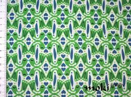 Muster Blau Grün Stoff Daisylove Gr禺n Blau Muster