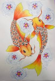 pisces clipart koi fish pencil and in color pisces clipart koi fish