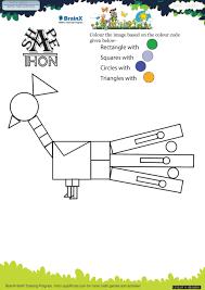 shapethon peacock math worksheet for grade 1 free u0026 printable
