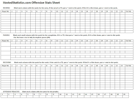 Stat Sheet Template 13 Free Sle Football Sheet Templates Printable Sles