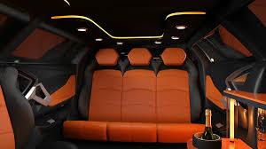 lamborghini car seat lamborghini aventador stretch limousine concept shown