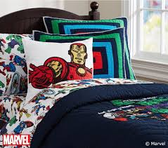 marvel quilted bedding pottery barn kids