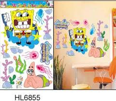 Spongebob Room Decor 60x90cm Tc6010 Gianit Walll Stickers Super Large Butterfly