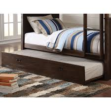 Bunk Beds Trundle Acme Hector Antique Charcoal Brown 38025 Trundle Bunk