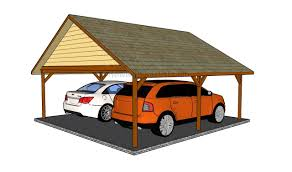 Building An Attached Carport How To Build A Double Carport Howtospecialist How To Build